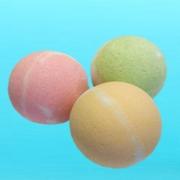 Соль шипучая для ванн с маслами лимона и грейпфрута  (в форме шара) Арт.10195